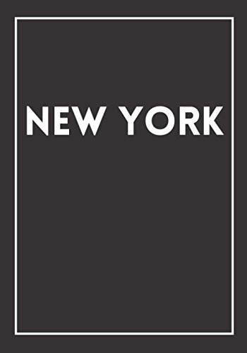 """New York: A black decorative book for coffee tables, bookshelves and end tables: Stack """"States"""" decor books to add home decoration to bedrooms, ... own home or as an interior design savvy gift."""