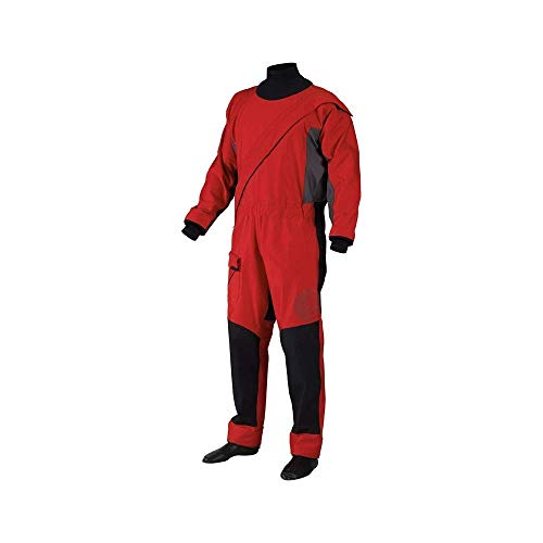 Gill Men's Waterproof Breathable Pro Drysuit, Red, Large
