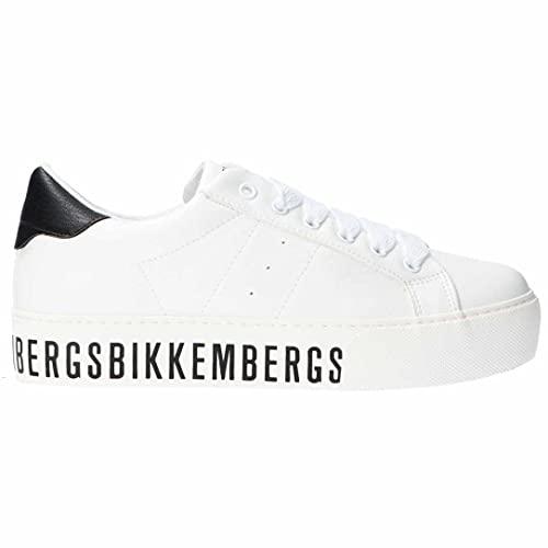 Bikkembergs K3A4-20532-0309X508 - Zapatillas deportivas para niña y mujer, color blanco Blanco Size: 36 EU