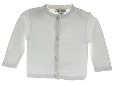 Petit Ami Girls Cardigan Sweater White Infant, Toddler & 4-6X (24 Months)