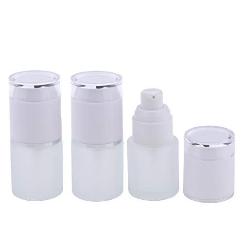 Baoblaze 3pcs Flacons Parfum Vaporisateur Vide Etuis Bouteilles à pompe pour lotion - 01 Blanc