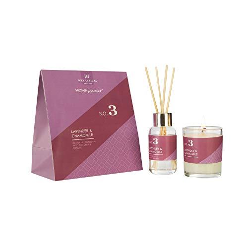 WAX LYRICAL Homescenter Votive Candle & Reed Diffuser Gift Set Lavender & Chamomile