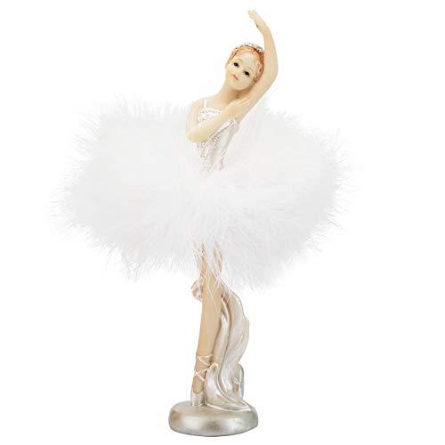 Oumefar Dancing Ballet Girls Estatua Bailarina Figuras Modelo Estatua Adornos artesanía decoración del hogar Regalo de Fiesta de cumpleaños(037)