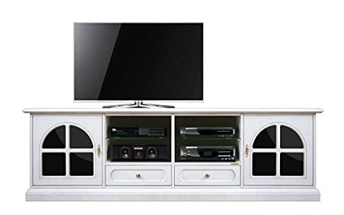 Arteferretto Meuble Banc TV 200 cm Noir et Blanc