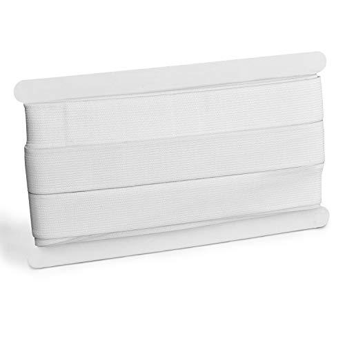 ZADAWERK Gummiband - 3 cm x 10 m - Weiß - Hosengummi - Elastikband - Starkes Gummi - Robust und hochwertig - Zum Einnähen und vernähen - Deutsche Marke