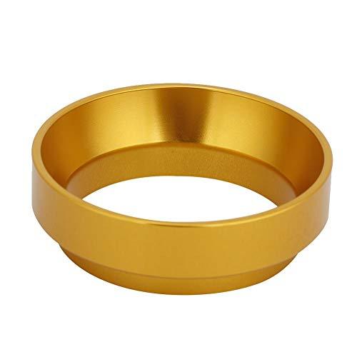 Espresso-Dosiertrichter aus Aluminium, universell, für Kaffeepulver, Dosierring, Kaffeemaschine, Ersatzzubehör, 58 mm (Gold)