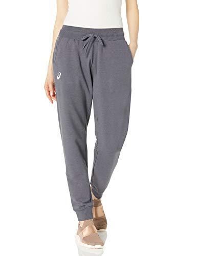ASICS Pantalón de forro polar esencial para mujer - 2162A078, Essential - Pantalón polar, M, team playeral jaspeado gris