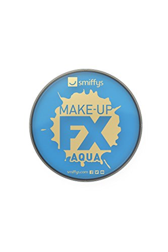 Smiffys 23737 make-up FX, Aqua Face en Body Paint, lichtblauw