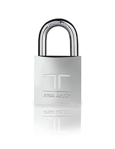 Tesa Assa Abloy CL30CR Candado de Latón, Arco de Acero Inoxidable, Plata, 30 mm