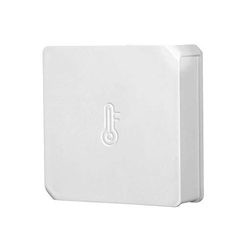 Docooler SNZB-02 - Sensore di temperatura e umidità con app per terrario, rettili, piante da serbatoio, incubatore, sigari, Humidor compatibile con dispositivi ZigBee IFTT WiFi