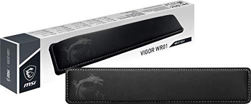 MSI Vigor WR01 OJ0-XXXXXX1-000 Poggiapolsi per tastiera in memory foam, superficie morbida in Lycra, ergonomica ed antibatterica, base antiscivolo, pe