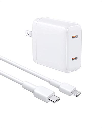 Type C Wall Charger, Compatible iPad Dual Port USB Charger with 2 Cables