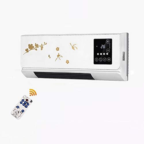 FFZZ Ventilador Calefactor de cerámica con Ahorro de energía de 2000W con protección contra sobrecalentamiento Apto Apagado del Temporizador de 12 Horas Percha de Ropa innovadora