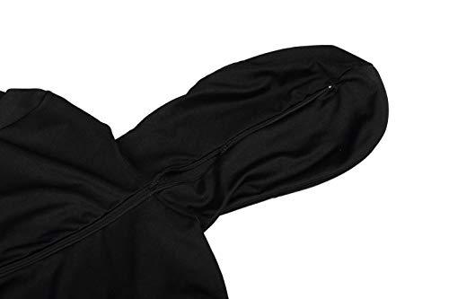 Lttcbro Full Body Lycra Spandex Unisex Zentai Suit Xl Black