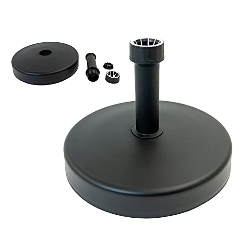 Parasol Base | Patio Umbrella Base Umbrella Stand Holder Round | 25KG Plastic Water and Sand Filled Parasol Base | The Perfect Solution For Outdoor Parasols and Umbrellas |