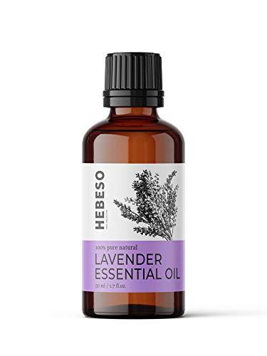Lavendelöl ätherisch 50 ml - 100% Naturrein & Bio Lavendel öl - 1000 Tropfen - Reines Lavendeloel Massage, Einschlaf, Seife, Raumduft - Aetherisches Lavendel oel für...