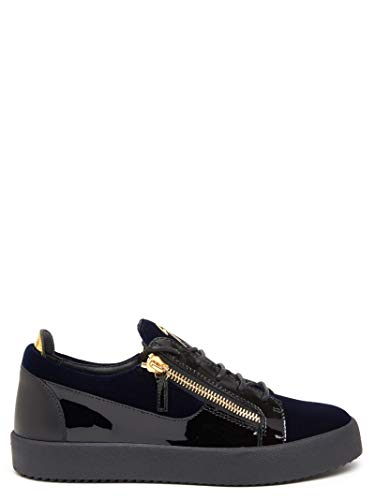 Giuseppe Zanotti Luxury Fashion Design Uomo RU70002002 Blu Pelle Sneakers | Primavera-Estate 20