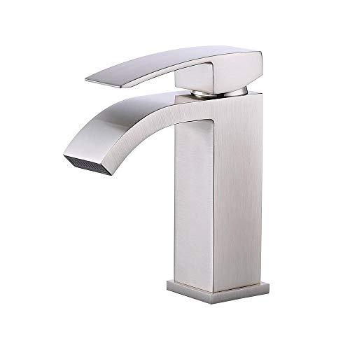 Wasserhahn Becken Wasserhahn_Wasserfall Warm- Und Kaltwassermischer-Zeichnen