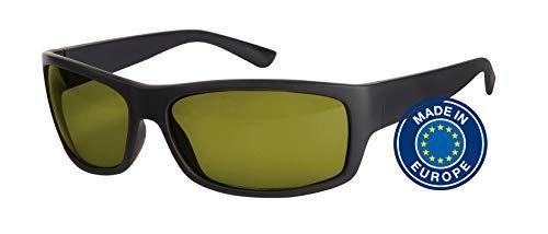 Blaulichtfilter – Sportbrille – Wrap-around Brille, Blue Blocker mit Kantenfilter 450 und 60% Grautönung, UV-Schutz, Blendschutz, kontraststeigernde Unisex-Lichtschutzbrille IV PROSHIELD