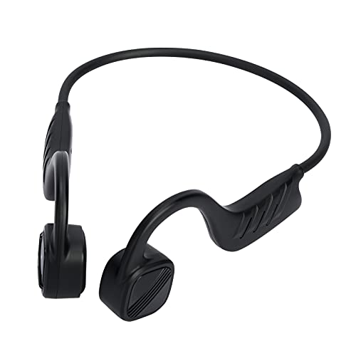 red temp Cuffie Bluetooth a conduzione ossea, Cuffie Impermeabili Bluetooth Senza Fili Sport Leggere IPX8 con Microfono per la Corsa Ciclismo Nuoto