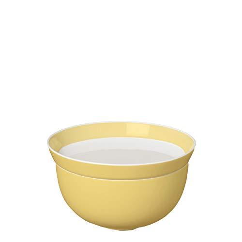 Ritzenhoff Livø Schalen-Teller-Set, Porzellan, Schälchen, Schüssel, Speiseschale, Weiß / Gelb, Ø 12 cm, 4130001