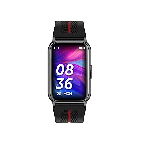 PYAIXF Reloj Inteligente, Hiperboloide Reloj Deportivo para Mujer Monitoreo De Oxígeno En Sangre Rastreador con Monitor De Frecuencia Cardíaca Reloj Inteligente De Fitness 3 Colores-Black