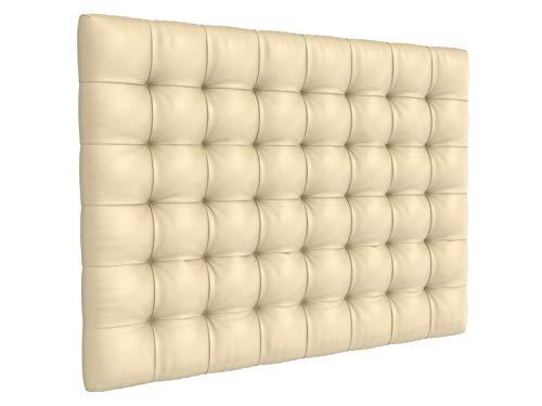 LA WEB DEL COLCHON - Cabecero tapizado Manhattan para Cama de 180 (190 x 120 cms) Beige | Cama Juvenil | Cama Matrimonio | Cabezal Cama |