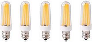LED Bulbs LED Bulbs E12 Base,350 Lumens, 4 Watts, COB Filament, E12 (Candle/Candelabra) Base, 40W Equivalent,5-Pack 3000K/...