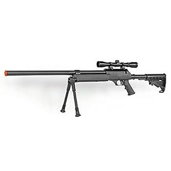 Spring Bolt Action Well m187d fps-550 Metal Airsoft Sniper Rifle Gun w/Scope bi-pod Airsoft Gun