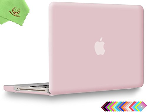 UESWILL Smooth Soft-Touch Matte Hard Shell Case Cover Compatible with MacBook Pro 13 inch with CD-ROM (Non-Retina) (Model A1278) + Microfibre Cleaning Cloth, Rose Quartz