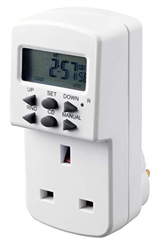 Masterplug TE7-MP Timer Energy Saving Seven Days Plug with Switch and Power...
