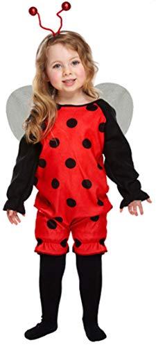 Kleinkind Mädchen Hummel Biene oder Marienkäfer Mini Biest Tierkostüm Outfit Alter 3 Jahre - Marienkäfer (Rot), 3 Years, 3 Years