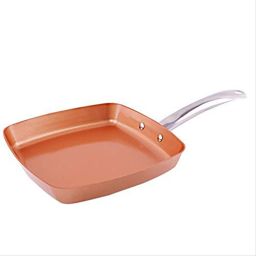 Padella antiaderente rame Padella induzione Chef Pentole Casseruola forno Lavastoviglie Cassaforte 8 pollici padella antiaderente Copper Red Pan Huangwei7210