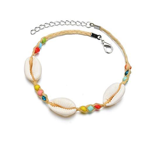 Enkelbanden Voor Vrouwen Enkel Armbanden Shell Enkelband Mini Enkelbandje Verstelbare Enkelbanden Titanium Staal Enkelband Natuurlijk Enkelbanden