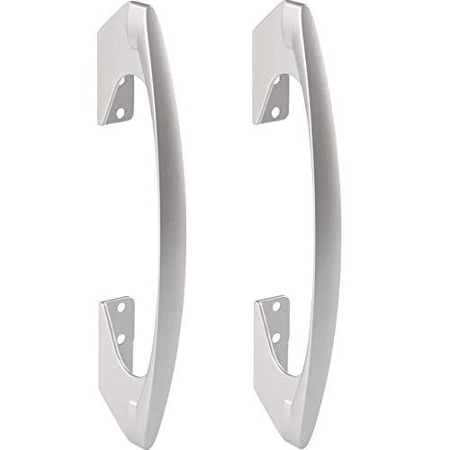 Tiradores de bar Gedotec para puertas correderas plegables correderas - SOMANA | Tirador para puerta corredera plegable con distancia entre agujeros: 96 y 128 mm | metal, plata anodizada 2 piezas