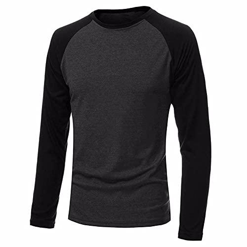 Spring Clothing - Camiseta de béisbol casual de manga larga para hombre