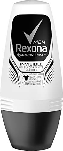 Rexona Men Roll-On Invisible on black and white clothes Anti-Transpirant, 6er Pack (6 x 50 ml)