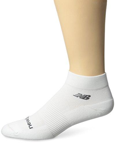 New Balance Unisex 1 Pack NBX Olefin Quarter Socks,Large,White -  New Balance Socks, N7010-877-1
