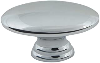 Atlas Homewares A817-CH 1-1/2-Inch Euro-Tech Collection Small Egg Knob, Polished Chrome