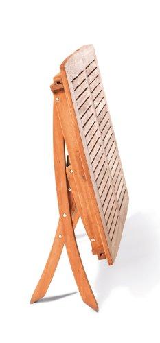 gartenmoebel-einkauf Multifunktionstisch Cordoba 110/160x90cm, klappbar und ausziehbar, Eukalyptus - 3