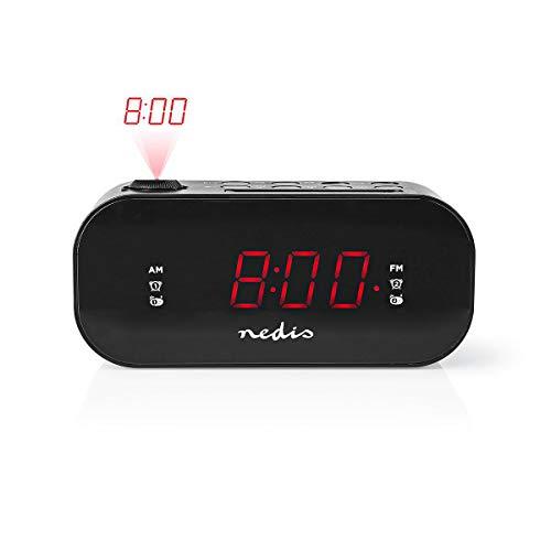 Nedis - Digitaler Radiowecker mit Uhrzeitprojektion - 0,9