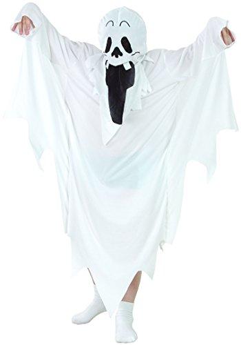 DEGUISE TOI Déguisement fantôme Halloween Enfant - S 4-6 Ans (110-120 cm)