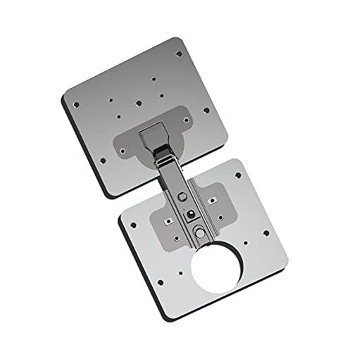 Accesorio para puertas de gabinetes y muebles, 1/3 piezas de acero inoxidable placa de reparación de gabinete bisagra, placa de reparación de bisagras para el hogar, gabinete de muebles, cajón ventana