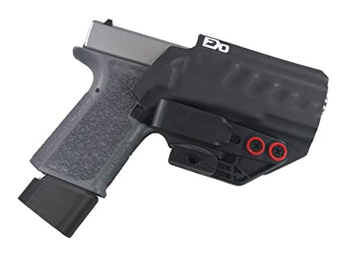FDO Industries IWB Holster Polymer 80 Compact (PF940C) (19/23) w/Tuckable Clip and Claw -The Uninfringed Series -Made in USA- (Black)