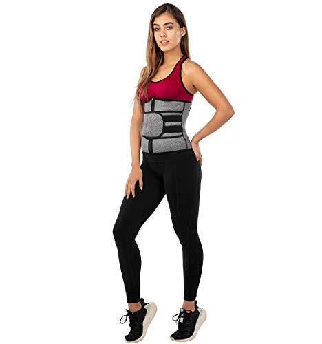 SpanPro Shapercity Neoprene Sweat Waist Trainer Belt for Women, Trimmer, Weight Loss, Sports Waist Cincher Shaper Slimmer, Eraser Belly Band Sports Girdle - 2X-Large