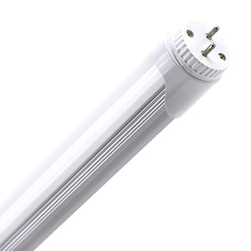KIT 2 Tubo Neon Led 120 cm 18W Attacco T8 Luce Bianco FREDDO 6000-6500 K 1980 Lumen Equivalente 200 Watt Copertura Opaca