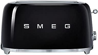 Smeg TSF02BLUS 50's Retro Style Aesthetic 4 Slice Toaster, Black