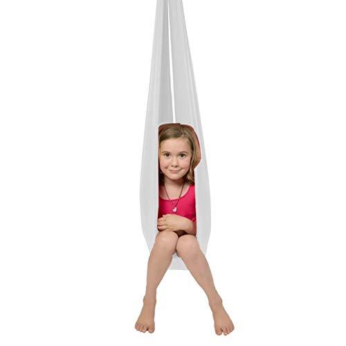QHY Hamaca para Niños Swing de Terapia Ajustable Columpios Infantiles Columpio De Terapia Interior para Niños Y Adolescentes con Más Necesidades Especiales (Color : White, Size : 1.5x2.8m)