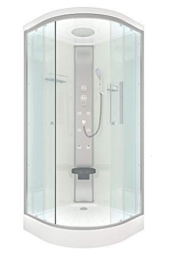 AcquaVapore DTP10-0000 Dusche Duschtempel Duschkabine Fertigdusche 80x80cm JA mit 2K Scheiben Versiegelung