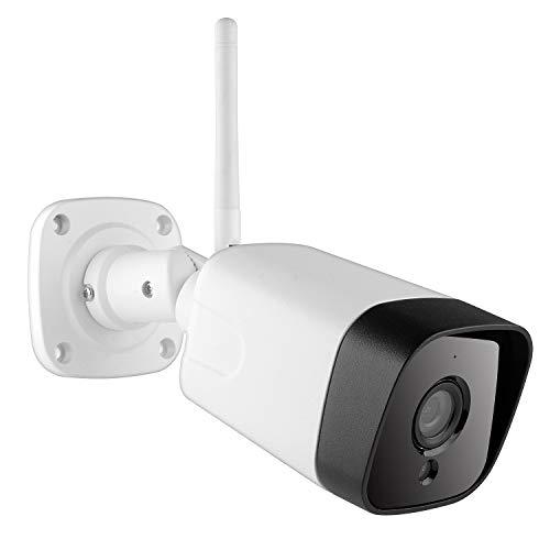 SovelyBoFan Telecamera IP Telecamera di Sicurezza per Videosorveglianza HD 1080P Esterna Audio Bidirezionale IR Visione Notturna Telecamera WiFi (Spina EU)